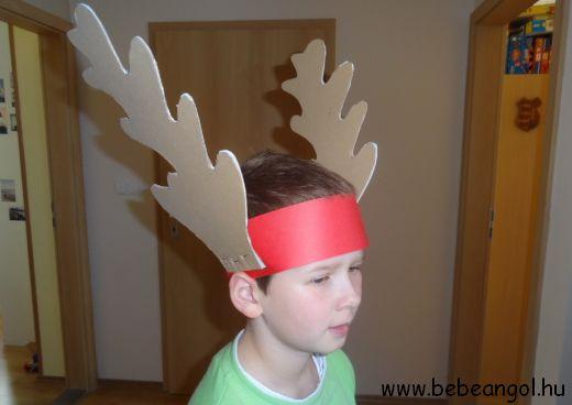 Rudolph the red-nosed reindeer - agancsos fejdísz