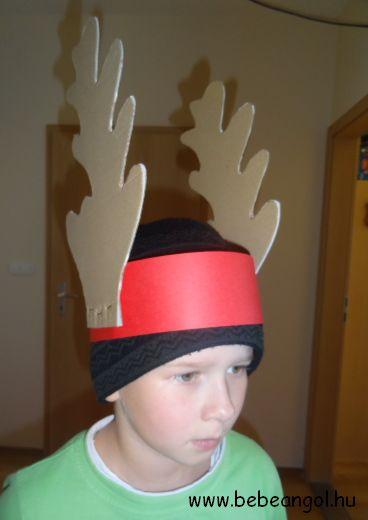 Rudolph the red nosed reindeer - agancsos fejdísz a karácsonyi angol gyerekdalhoz