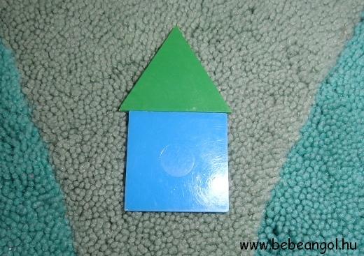 játsszunk a formákkal angolul - építsünk napocskát körből és háromszögekből