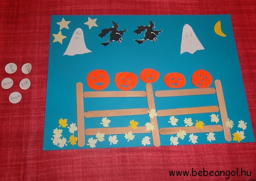 Five Little Pumpkins Sitting On A Gate craft