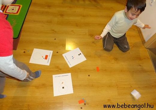 hóemberes játék angolul a formák gyakorlására