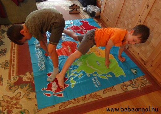 Twister variáció - tanuljunk játékosan a kontinensekről angolul