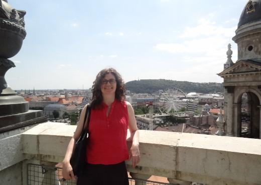 Sharon a Szt. István Bazilika kupolájában Budapesten