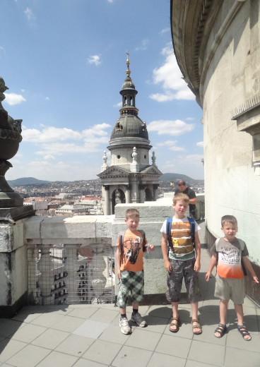 Szt. István Bazilika kupolájában Budapesten