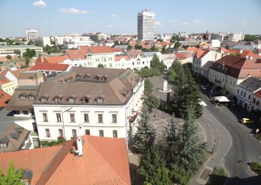 látkép a Tűztoronyból Veszprémben