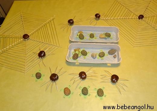készül a pókháló gesztenyéből