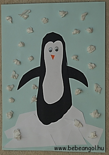 kreatív pingvin kartonból