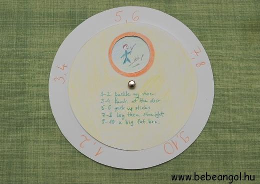 kreatív gyerekangol - One two buckle my shoe angol mondókához ötletes segédanyag