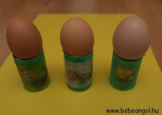 kreatív tojástartó szalvétatechnikával