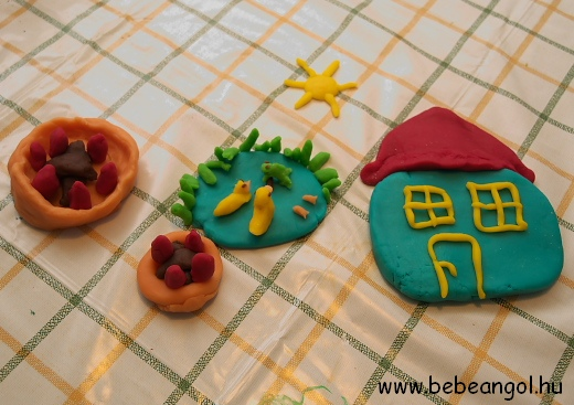 Oh Mr Sun - angol gyerekdalok illusztrálása sóliszt gyurmával