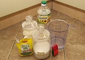 a főzött só-liszt gyurma hozzávalói