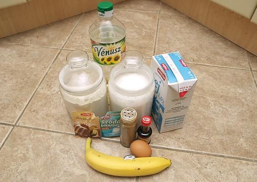 a banános muffin hozzávalói