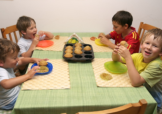 nagyon ízlik a banános muffin a gyerekeknek