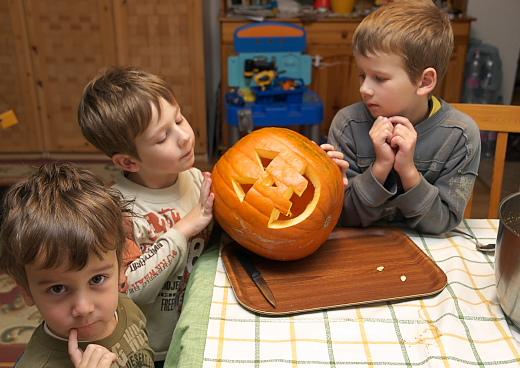 kész a Halloween töklámpás