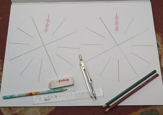 készül a kreatív évszakkerék a gyerekek angoltanításához