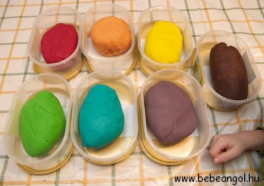 színes főzött sóliszt gyurma