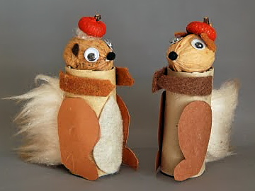 mókusok dióból